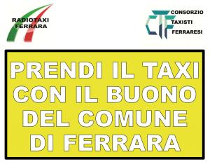 Prendi il taxi con il buono del Comune di Ferrara